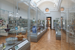 The ceramics gallery in the museum