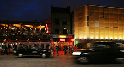 The Young Vic at night. Photo by Ellie Kurttz