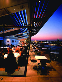 Oxo Tower - the restaurant terrace at night