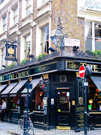 A traditional pub in the centre of Soho