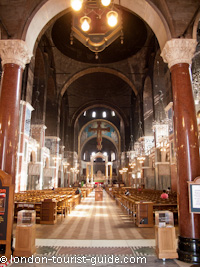 The interior of Westminster Cathedral