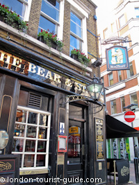 The Bear and Staff pub near Leicester Square