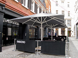 Gaucho Restaurant and Bar in Piccadilly Circus