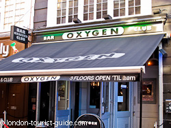 Oxygen club in Leicester Square