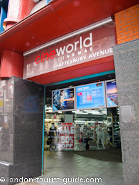 Cineworld near Piccadilly Circus