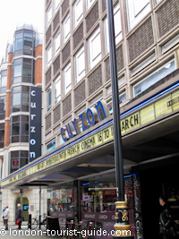 The Curzon Arthouse Cinema in Soho