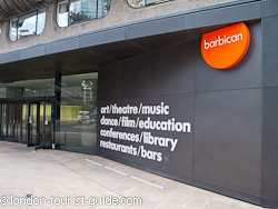 The Barbican Centre entrance