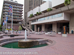 The terrace area in the Barbican Centre