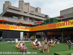 Outside the National Theatre