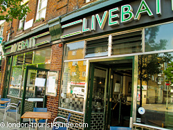 Livebait restaurant near The Young Vic