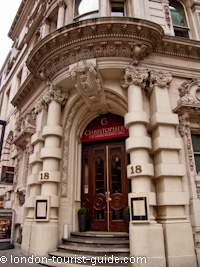 Christopher 39 s american restaurant in covent garden london for American cuisine in london
