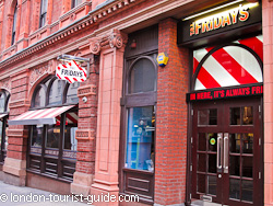 Tgi Fridays American Restaurant In Covent Garden London