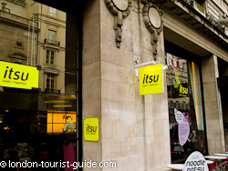 Itsu Restaurant in Piccadilly Circus
