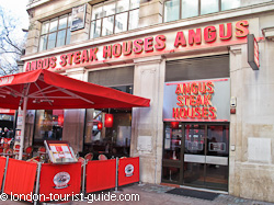 Angus Steak House near Piccadilly Circus