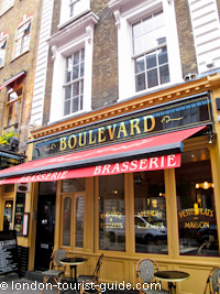 Boulevard Brasserie in Covent Garden