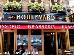 Boulevard Brasserie French Restaurant In Covent Garden London