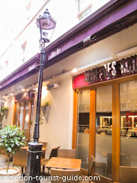 Caf des amis french restaurant in covent garden london for Cafe de jardin in covent garden