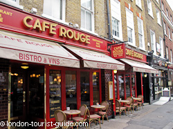 Cafe Rouge in Covent Garden