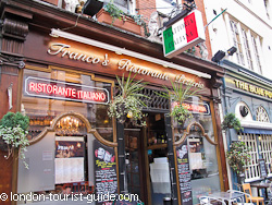 Francos Restaurant near Piccadilly Circus
