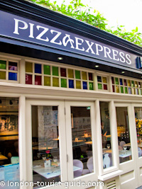 Pizza Express restaurant near Piccadilly Circus