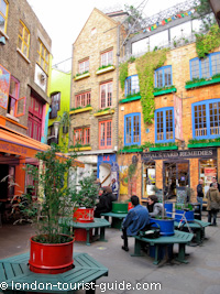 Neal's Yard area - off the beaten track in Covent Garden