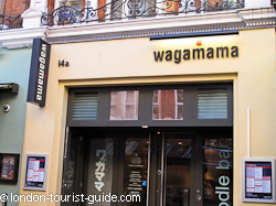 Wagamama noodle bar in Leicester Square