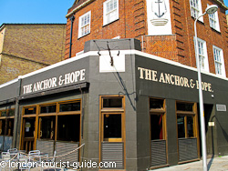 The Anchor and Hope gastro-pub in Waterloo