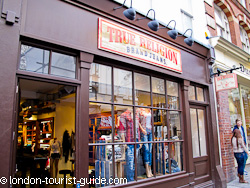 True Religion Jeans Store in Covent Garden