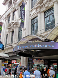 Trocadero entertainment centre in Piccadilly Circus