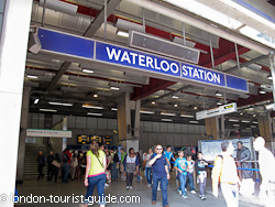 A side entrance to Waterloo train station