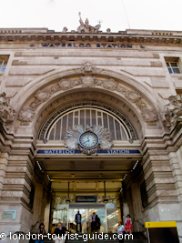 The main entrance to London Waterloo train station